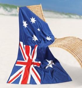 Australian Flag Towel Bongo