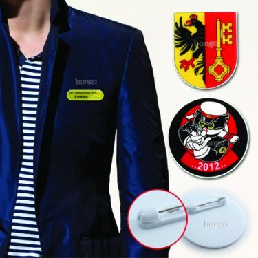 Badge printed