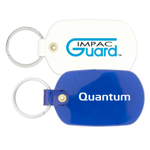 Promotional Oval Plastic Key Tags - Bongo