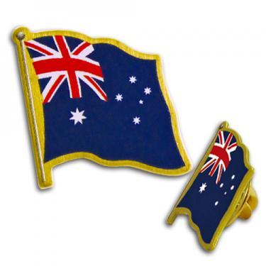 australia flag lapel pin bongo