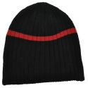 black and red beanie