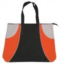 black orange silver tote bag
