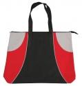black red silver tote bag