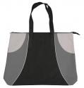 black silver grey tote bag
