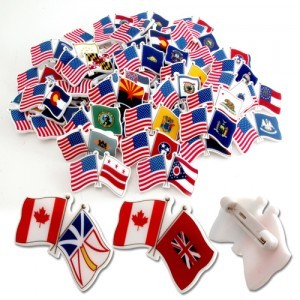 country flag pins bongo