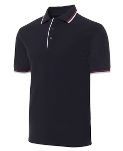 double contrast polo shirt