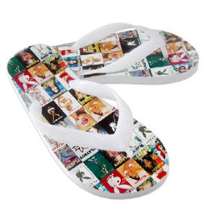 full colour printed thongs