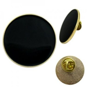 gold pin badge 25mm round