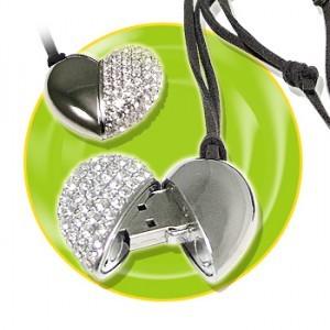 heart jewel flash drives
