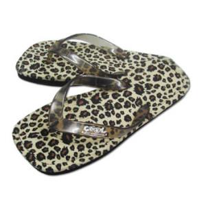 leopard print thongs