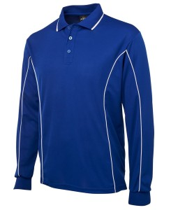 long sleeved piping polo