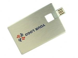 metallic silver usb card