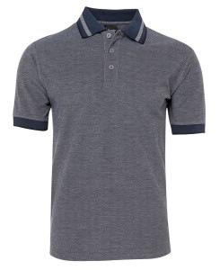 navy blue birdseye polo