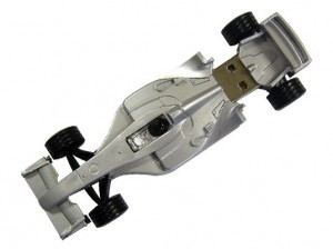racing car flash drives