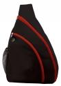 sling bag black red