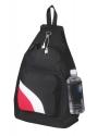 sling bag black white red