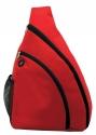 sling bag red black