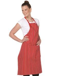 stripe bib apron bongo