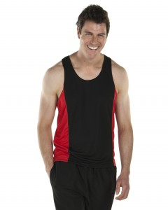 two tone polyester singlet
