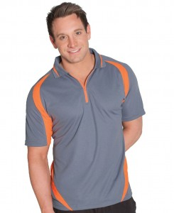 zip front polo shirt front