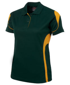 Ladies green and gold