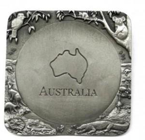 australia pewter coaster