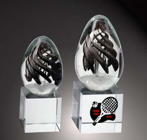black swirl crystal awards