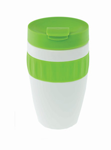 coffee to go cup lime green