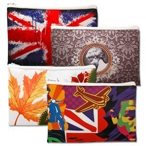 colourful printed pouches