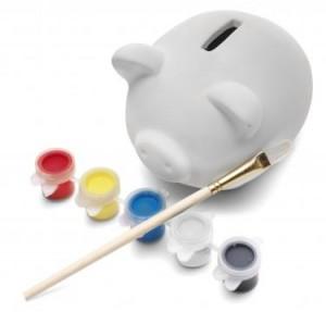 piggy bank paint set