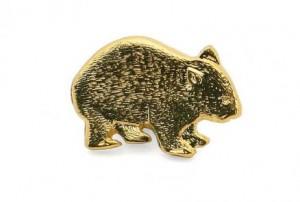 wombat lapel pin