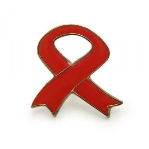 aids metal badge