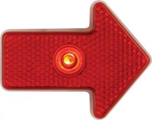 blinking red arrow light bongo