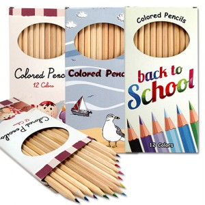 coloured pencils box