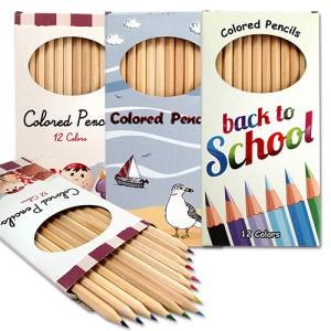 coloured pencils box