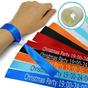 printed satin wristbands