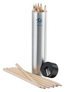 silver tin pencil set