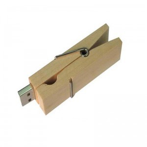 wooden peg flash drive