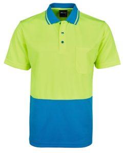 Hi Vis No Cuff Polo Shirt