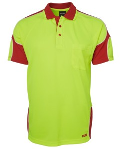 hi vis arm panel polo shirt