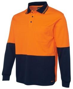 hi vis cotton back polo shirt