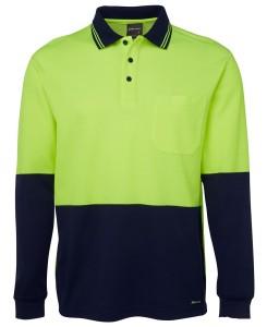 hi vis cotton back polo shirt lime