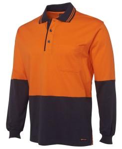 hi vis cotton long sleeved polo