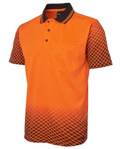hi vis net design polo