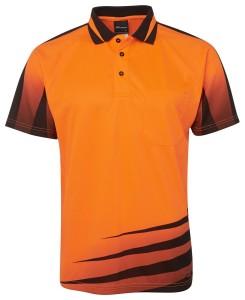hi vis printed polo orange