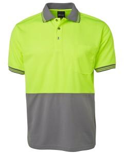 hi vis short sleeved polo shirts