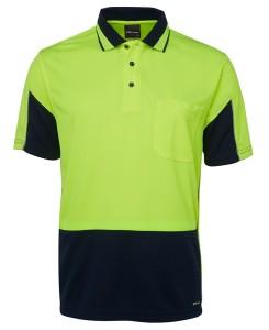 hi vis short sleeved polos lime