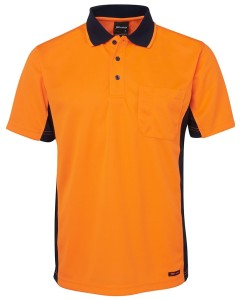 hi vis sports polos orange