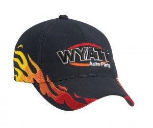 Motor Racing Flame Baseball Cap Bongo