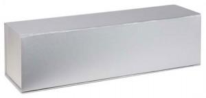 wine gift box silver
